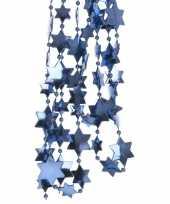 Goedkope donkerblauwe sterren kralenslinger kerstslinger