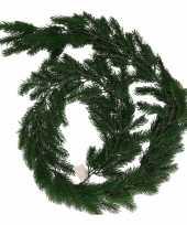 Goedkope donkergroene kerst guirlande