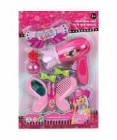Goedkope donkerroze speelgoed fohn accessoires meisjes