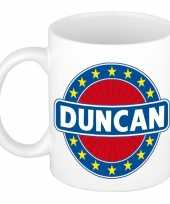 Goedkope duncan naam koffie mok beker