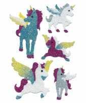 Goedkope eenhoorn glitter stickers vel