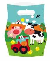 Goedkope feest zakjes boerderij thema