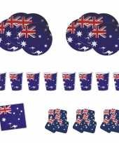 Goedkope feestartikelen australie tafel versiering pakket