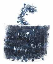 Goedkope feestslinger dun blauw sterren folie