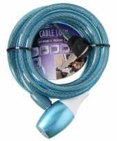 Goedkope fiets spiraalslot blauw