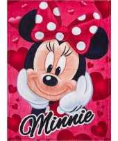 Goedkope fleece deken minnie mouse rood