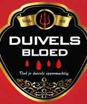 Goedkope flessen etiket duivels bloed