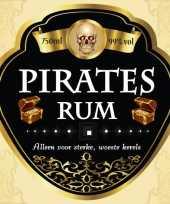 Goedkope flessen etiket pirates rum
