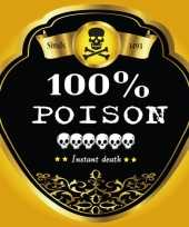 Goedkope flessen etiket poison