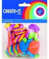 Goedkope foam rubberen cijfers diverse kleuren st