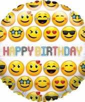 Goedkope folie ballon smiley verjaardag
