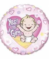 Goedkope folie ballon yes i am a girl