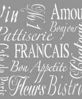Goedkope franse teksten sjabloon
