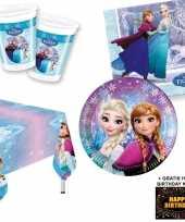Goedkope frozen lights kinderfeestje versiering tafel pakket pers kaa