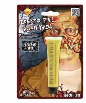 Goedkope gebarsten huid schmink geel gram