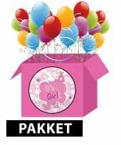 Goedkope geboorte feestpakket meisje