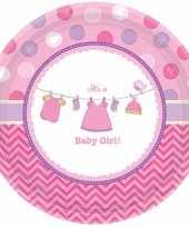Goedkope geboorte meisje bordjes baby girl