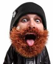 Goedkope gebreide muts bruine baard