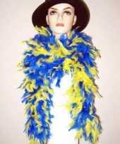 Goedkope geel blauwe boa