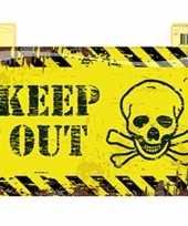 Goedkope geel deurbord keep out