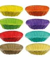 Goedkope gekleurd rieten mandje