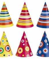 Goedkope gekleurde feesthoedjes stuks
