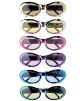 Goedkope gekleurde metallic party bril