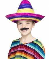 Goedkope gekleurde sombrero kinderen