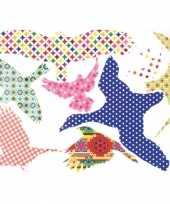 Goedkope gekleurde vogel raamstickers