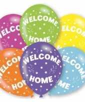 Goedkope gekleurde welkom thuis ballonnen stuks