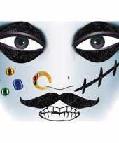 Goedkope gezicht stickers piraat vel