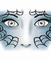 Goedkope gezicht stickers spinnenweb vel