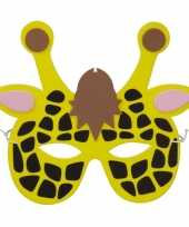 Goedkope giraf foam masker kinderen