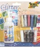 Goedkope glitter confetti set lijm