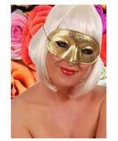 Goedkope glitter oogmasker goudkleurig