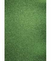 Goedkope glitterend groen hobby karton a