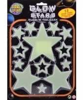 Goedkope glow the dark sterren geel stuks