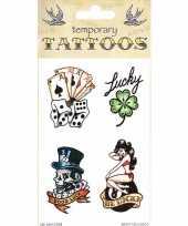 Goedkope good luck tattoos stuks
