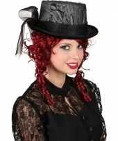 Goedkope gothic hoge hoed kant