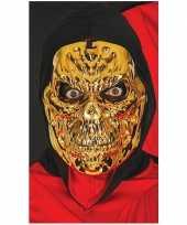 Goedkope goud metallic skelet masker