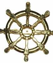 Goedkope gouden matroos zeeman verkleed broche scheepsroer