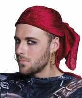 Goedkope gouden piraten oorbellen