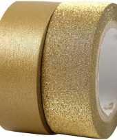Goedkope goudkleurig glitter tape rollen