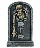 Goedkope grafsteen skelet led ogen