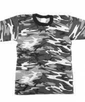 Goedkope grijs camouflage t shirt korte mouw