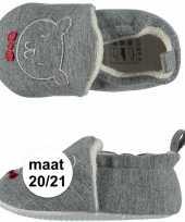 Goedkope grijze babyslofjes beertje maat 10089503