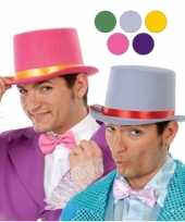 Goedkope grijze hoge hoed vilt volwassenen