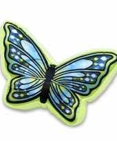 Goedkope groen blauw vlinderkussen