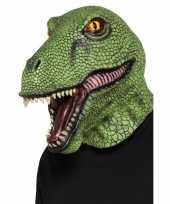 Goedkope groen dinosaurus masker volwassenen