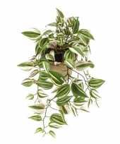 Goedkope groene tradescantia vaderplant kunstplant hangende pot